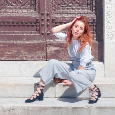 Outfit per una perfetta Blogging Breakfast a Pisa: una salopette con volant!